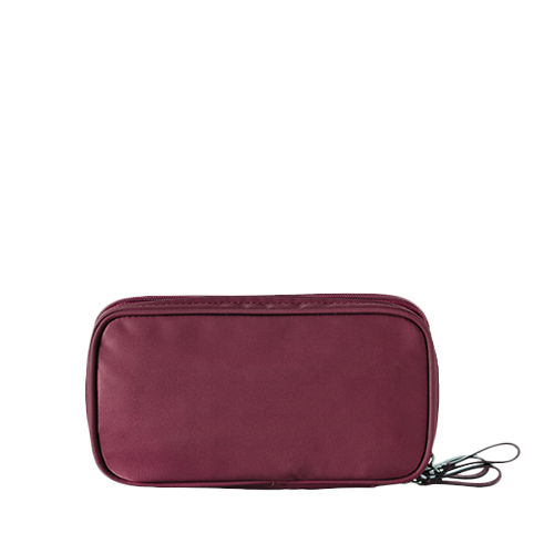 아이띵소 ithinkso,DOUBLE ZIP MAKE-UP (Burgundy)