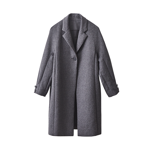 BUTTON OVER COAT (Gray)