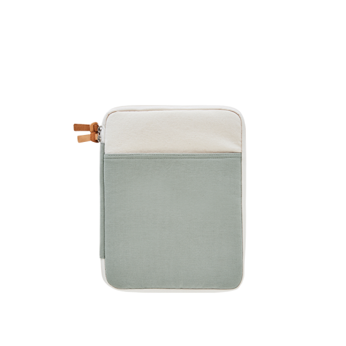 CANVAS IPAD POUCH (11) (Natural-Mint)
