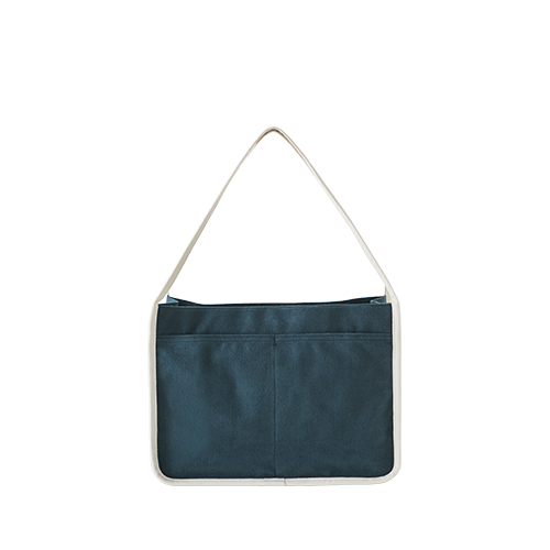 PEACH TOTE BAG(Navy)