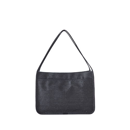 PEACH TOTE BAG(Melange black)