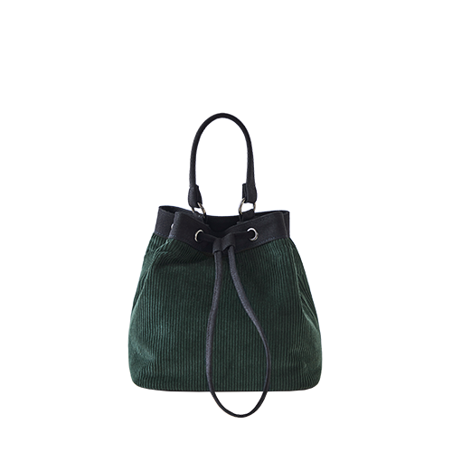 CORDUROY BUCKET BAG (Green)