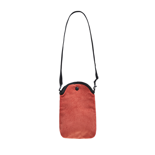 MOBILE POUCH X BAG _CORDUROY (Salmon)